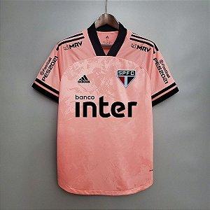 Camisa São Paulo 2020 (Outubro Rosa) - treino