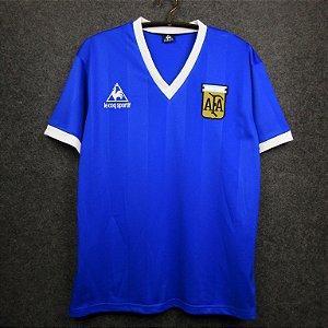 Camisa Argentina 1986 Copa do Mundo  (Away-Uniforme 2)
