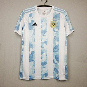 Camisa Argentina 2020-21 (Home-Uniforme 1) - Modelo Torcedor