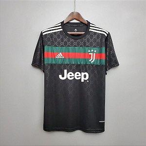 Camisa Juventus x Gucci 2020-21 - preta