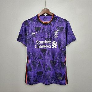 Camisa Liverpool 2020-21 (treino - roxo)