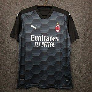 Camisa Milan 2020-21 (goleiro-preta)