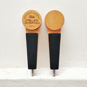 Tap Handle Manopla para torneira de cerveja chopp em Madeira personalizado REDONDO