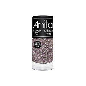 "Esmalte ""Anita"" 10ml Glitter Tô Chocada 388"