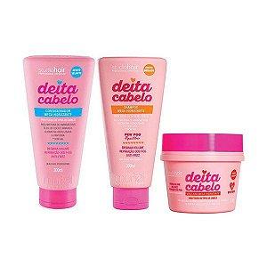 Kit Muriel Deita Cabelo Shampoo + Condicionador + Máscara