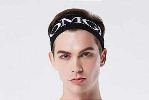 OMG! Man In Black Hairband - Bandana para cabelos na cor preta - Masculina