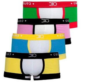 kit cueca mini boxer premium dionisio collection multicolor