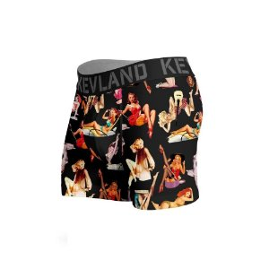 cueca boxer kevland clean classic pinups collor preto