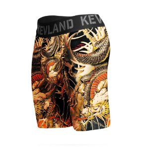 cueca boxer long leg kevland dragon tattoo amarelo