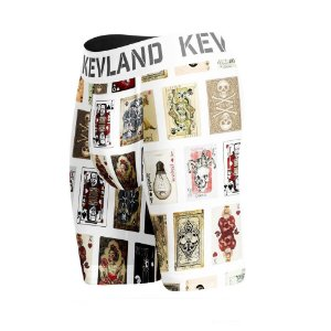 cueca boxer logng leg kevland cartas de baralho branco