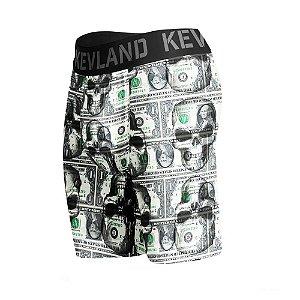 cueca boxer long leg kevland dollar skull ii verde