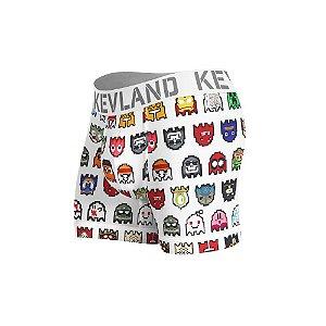 cueca boxer kevland pixel ll branco