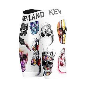 cueca boxer long leg kevland colored skulls fundo branco