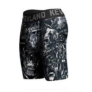 cueca boxer long leg kevland caveira dark preto
