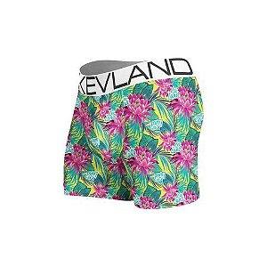 cueca boxer kevland light flowers verde