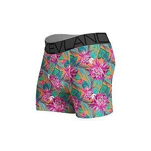 cueca boxer kevland tropical flowers rosa