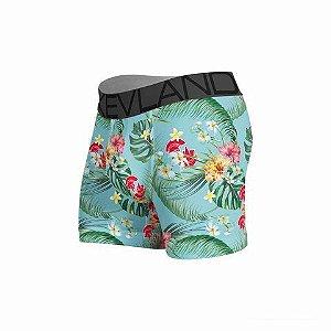 cueca boxer kevland floral blue