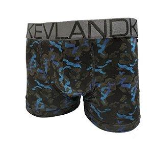 Cueca Boxer Kevland Camuflado Blue