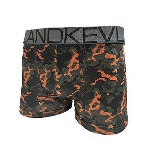 Cueca Boxer Kevland Camuflado Orange