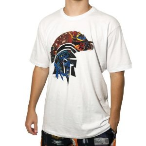 Camiseta Kevland Skate Skull Branco