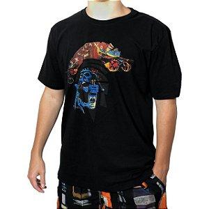 Camiseta Kevland Skate Skull Preto
