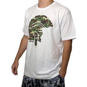 Camiseta Kevland Camuflado Militar Branco