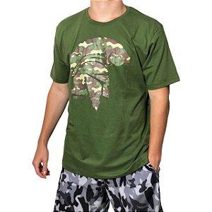 Camiseta Kevland Camuflado Militar Verde