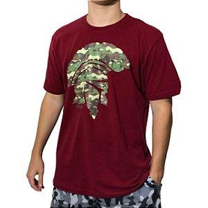 Camiseta Kevland Camuflado Militar Vermelho