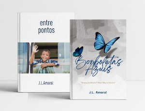 A PROMOÇÃO (2): DOIS livros premiados, com desconto! ENTRE PONTOS + BORBOLETAS AZUIS