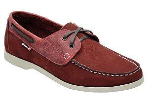 Docksider masculino em couro cor vermelho REF. 1043-8600