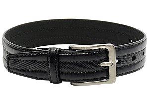 Cinto masculino em couro tamanho grande para cinturas de 140cm até 155cm cor preto REF. 3058-045