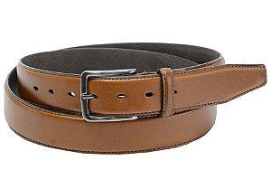 Cinto masculino em couro tamanho extra grande para cinturas de 150cm até 168cm cor telha REF. 3101-060