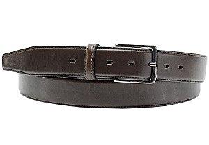 Cinto masculino em couro tamanho extra grande para cinturas de 157cm até 176cm cor café REF. 3105-060