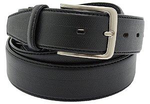 Cinto masculino em couro tamanho extra grande para cinturas de 150cm até 168cm cor preto REF. 3031-107