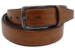 Cinto masculino em couro tamanho extra grande para cinturas de 150cm até 168cm cor telha REF. 3032-107