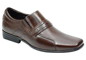 Sapato social masculino em couro legitimo na cor café Ref. 1073-193