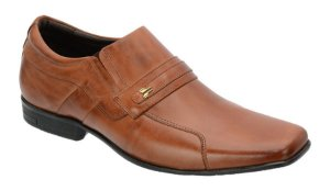 Sapato social masc. em couro na cor havana Ref. 1074-193