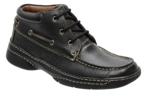 Coturno conforto em couro cor preto REF. 1076-7070