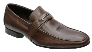 Sapato social masculino em couro cor cafe REF. 1086-15104