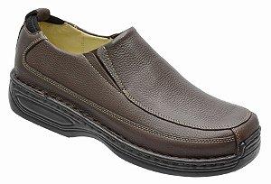 Sapato Conforto em Couro Legitimo na Cor Brown