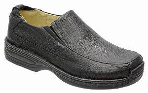 Sapato Conforto em Couro Legitimo na Cor Preto