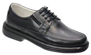 Sapato conforto em couro legitimo na cor preto REF. 1100