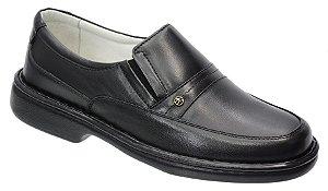 Sapato conforto em couro legitimo na cor preto REF. 1101