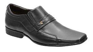 Sapato social masc. em couro na cor preto Ref. 1132-193