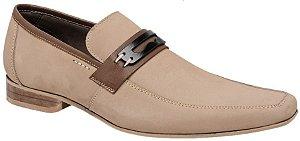 Sapato masculino social esporte fino em couro na cor areia REF. 1190-18647