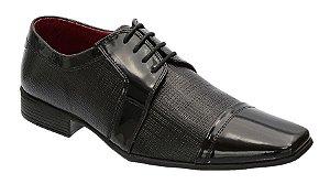 Sapato Social Masculino Envernizado na Cor Preto