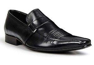 Sapato Social Classic Tipo Italiano em Couro Preto 1261-3400