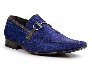 Sapato Social Classic Italiano em Couro na Cor Azul Royal