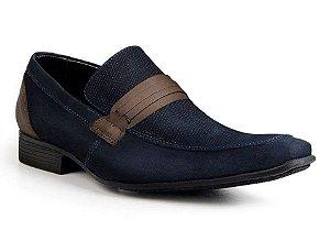 Sapato Social Classic Tipo Italiano Couro Azul