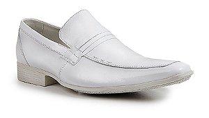 Sapato social clássic tipo italiano couro branco REF.1297